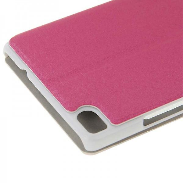 Booktasche window Pink for Huawei Ascend P8