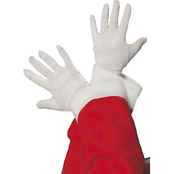 Santa Christmas Santa gloves white gloves