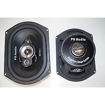 PG audio EVO II 12x8(34cmx24cm)1200 Watt Max, mega big and extremely loud, new 1 pair
