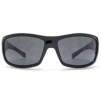 SUUNA Madrid Plastic Sports Wrap Sunglasses In Black