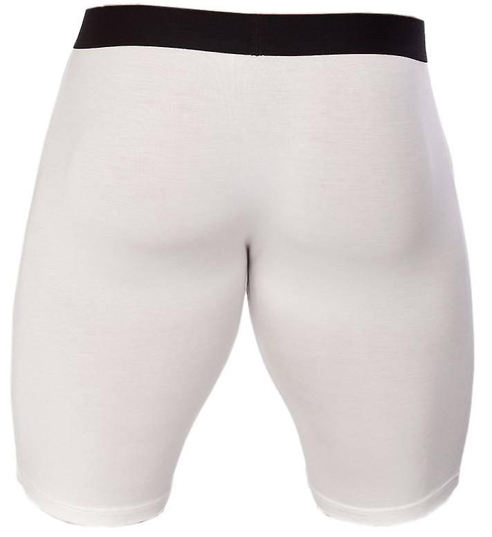 Obviously Essence Naked Boxer Brief 9 Inch Leg - White