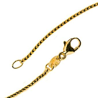 Bingo chain 585 Yellow Gold 1.2 mm 42 cm gold chain necklace gold necklace carabiner