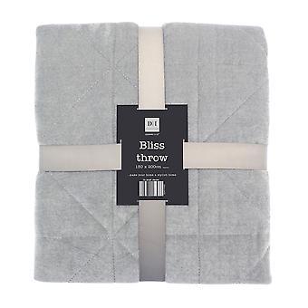 Country Club Bliss Throw Grey 150 x 200cm