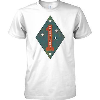 USMC 1 Dywizji Marines Guadalcanal insygnia - koszulki męskie