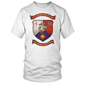 USMC 1 25 Btn Marines nowe Englands Grunge efekt dzieci T Shirt