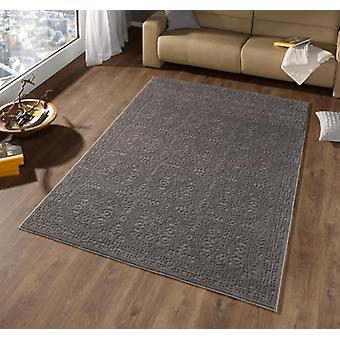 Design carpet border high depth effect suede grey | 102289