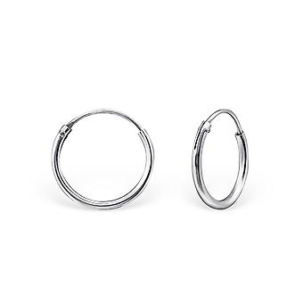 Classic - 925 Sterling Silver Ear Hoops - W18218x