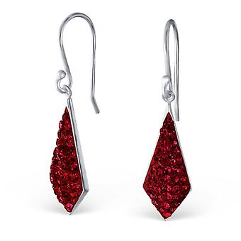 Marquise - 925 Sterling Silver Crystal Earrings - W18999x