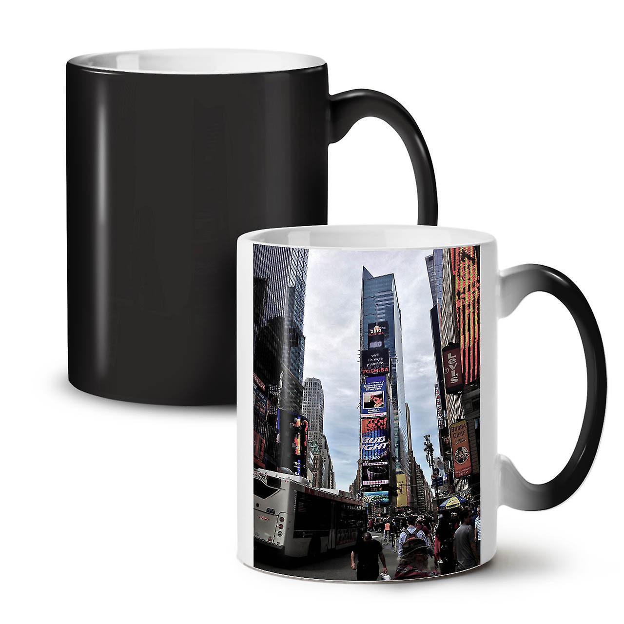 Thé Times Couleur Nouvelle Usa OzWellcoda Céramique Tasse Café Mode Square Noir 11 Changeant oBdrCxe
