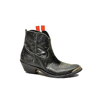 Golden Goose women's G32WS274B6 black leather ankle boots