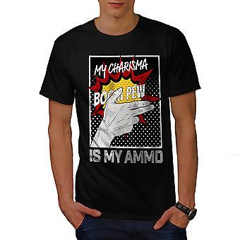 Charisma Comics Fashion Men BlackT-shirt | Wellcoda