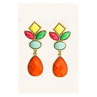 The Fashion Bible Multicoloured Cluster Drop Earrings