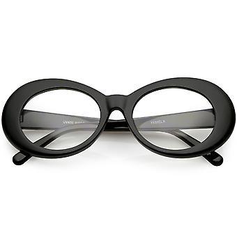 Stor slagkraft beskyttelsesbriller tyk Oval briller klar linse 53mm