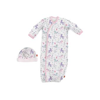 Magnificent Baby Magnetic Me™ Once Upon A Time Baby Girl Gown & Hat Set