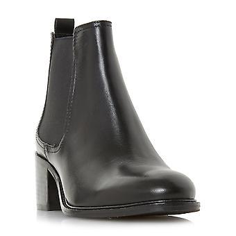 Dune Mesdames PARAMOOR bloc talon Chelsea Boot en noir