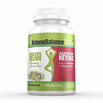 KetoneBalance Duo with Raspberry Ketones and Green Coffee Extract - 1 Month Supply - 2-in-1 Fat Burner - Evolution Slimming