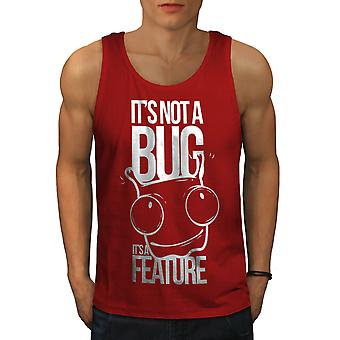 Not A Bug Geek Men RedTank Top | Wellcoda