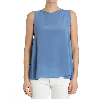 Ottod'ame ladies GINET86341509 light blue silk top