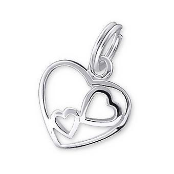 Cuore - 925 Sterling Silver Charms con Split ring