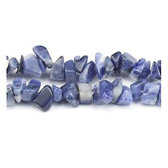 Long Strand 240+ Blue Sodalite 5-8mm Chip Beads GS3165
