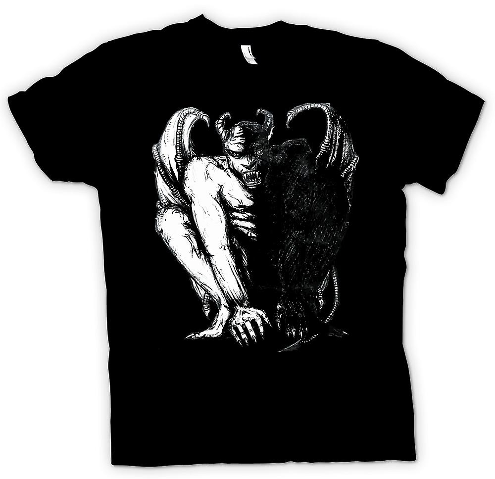 Kids T-shirt - Devil Satan Sketch - Horror