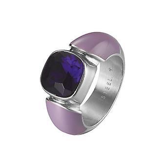 Joop women's ring stainless steel of purple cubic zirconia JPRG10594E
