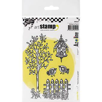 Carabelle Studio Cling Stamp A6 By Azoline-Meeting In The Garden