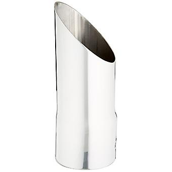 Borla 20107 Polished Stainless Steel Single Round Angle-Cut Tailpipe Tip