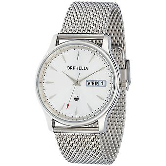 ORPHELIA Mens Analogue Watch Milanese Silver Stainless steel 153-7712-88