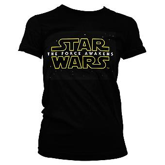 Star Wars Episode 7 Girlie Shirt Logo The Force Awakens