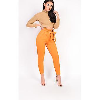 IKRUSH mujeres Hayleigh Paperbag lazo a la medida de pantalones