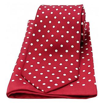 Conjunto de bolinhas de David Van Hagen, combinando a gravata e lenço de bolso - vinho/branco