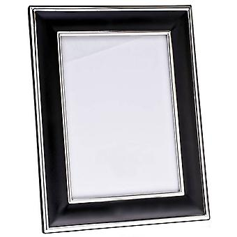 Orton West Silver Plated Photo Frame 6x8 - Black/Silver