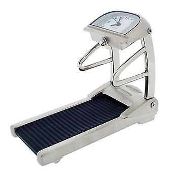 Gift Time Products Gym Treadmill Mini Clock - Silver/Black