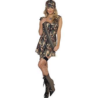 Smiffy Fever Army Girl Kostüm