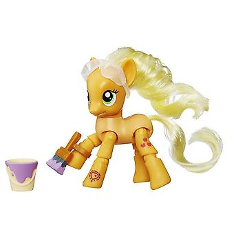 My Little Pony Explore Equestria Applejack Painting Figure Moving Legs