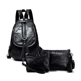 The backpack, shoulder bag, cosmetic bag, Sheepskin 5902-1