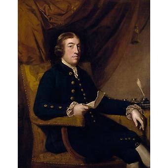 Portrait of James Bourdieu, Sir Joshua Reynolds, 40x60cm with tray