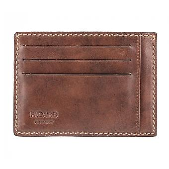 PICARD TOSCANA men credit card case card holder leather case chestnut 3639