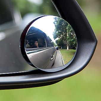 TRIXES Pair of Round Adjustable Stick-On Car Blind Spot Towing Mirrors