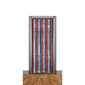 Doorway Curtain Red/Silver/Blue Tinsel (240x94cm)