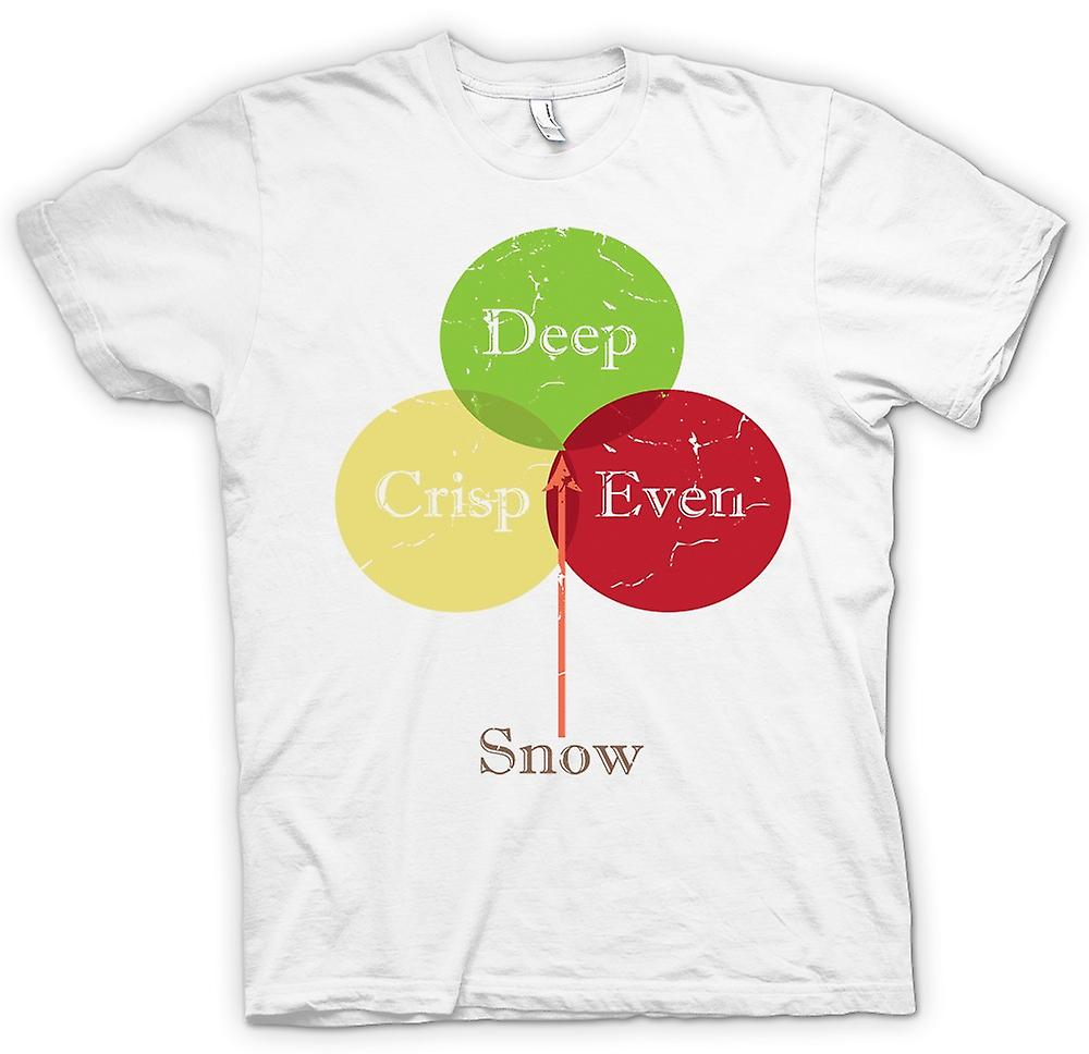 Herr T-shirt - djupt skarpa med snö - Funny