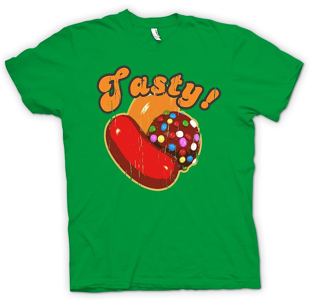 Mens T-shirt - Tasty - Candy Crush Inspired Gamer