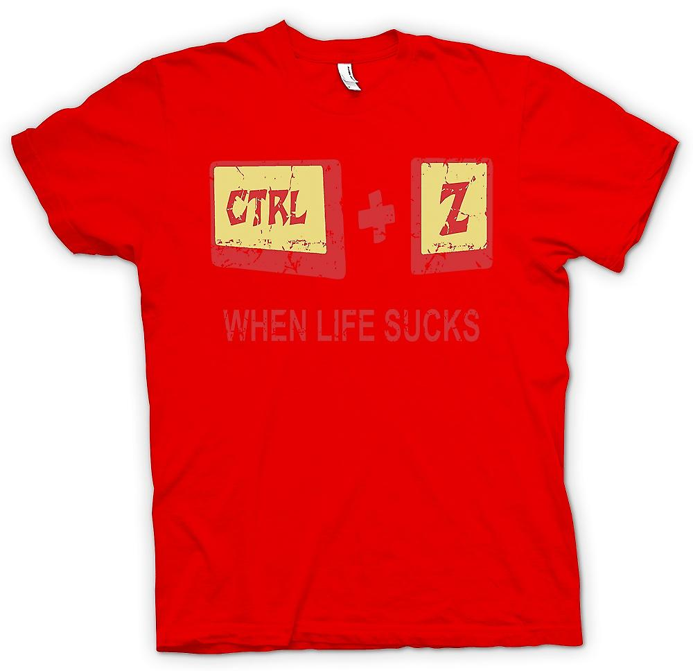 Mens T-shirt - When Life Sucks - Ctrl - Z