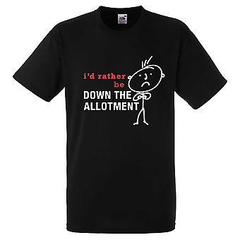 Mens, je serais plutôt vers le bas de l'allotissement noir Tshirt