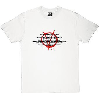 V For Vendetta Herren T-Shirt