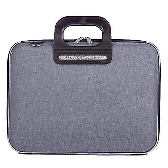 Bombata PRATO Briefcase by Fabio Guidoni Messenger Bag - 13 / Bicolor Gray/Black