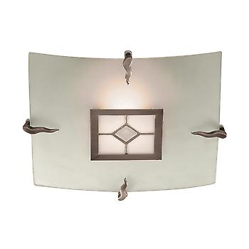 Searchlight 4207-30 Tiffany 1 Light Flush Glass Ceiling Fitting