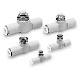 SMC Speed Controller Stainless Steel Inline Connection 6Mm Tube Push In