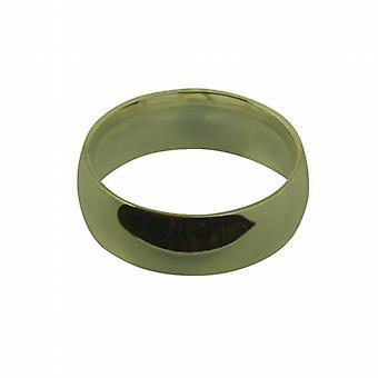 9ct Złota 8mm zwykły sąd w kształcie obrączki rozmiar Q